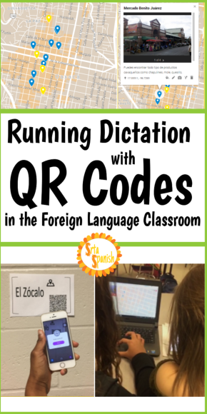 Running Dictation with QR Codes in the Foreign language classroom